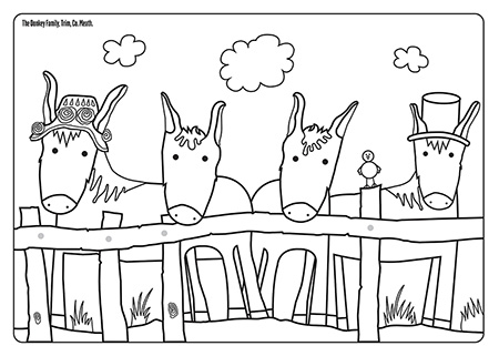 Colour in Trim's donkey family'